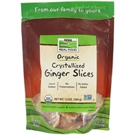 Image of NOW Foods - Crystallized Ginger Slices - 12 oz.