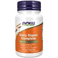 NOW Foods - Dairy Digest Complete - 90 Vegetarian Capsules (733739029560)