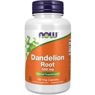 Image of NOW Foods - Dandelion Root 500 mg. - 100 Capsules