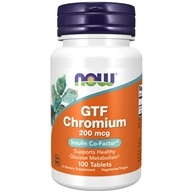 NOW Foods - GTF Chromium 200 mcg. - 100 Tablets, from category: Vitamins & Minerals