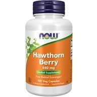 Image of NOW Foods - Hawthorn Berry 550 mg. - 100 Capsules