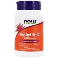 NOW Foods - Methyl B-12 1000 mcg. - 100 Lozenges - $6.19