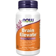 NOW Foods - Brain Elevate Vegetarian - 60 Vegetarian Capsules - $12.64