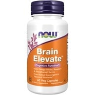 NOW Foods - Brain Elevate Vegetarian - 60 Vegetarian Capsules, from category: Nutritional Supplements
