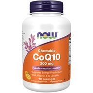 NOW Foods - CoQ10 Cardiovascular Health with Lecithin & Vitamin E 200 mg. - 90 Lozenges (733739031976)