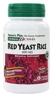 Nature's Plus - Herbal Actives Red Yeast Rice 600 mg. - 60 Vegetarian Capsules by Nature's Plus