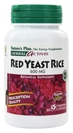 Nature's Plus - Herbal Actives Red Yeast Rice 600 mg. - 60 Vegetarian Capsules - $16.87