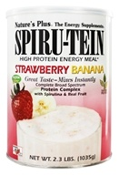 Nature's Plus - Spiru-Tein High Protein Energy Meal Strawberry Banana - 2.3 lbs., from category: Health Foods