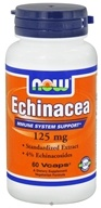 Image of NOW Foods - Echinacea Standardized Extract 125 mg. - 60 Vegetarian Capsules