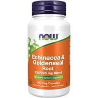 NOW Foods - Echinacea and Goldenseal Root 225 mg. - 100 Capsules (733739046659)