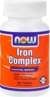 Image of NOW Foods - Iron Complex Essential Mineral with Vitamins and Herbs - 250 Tablets