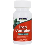 NOW Foods - Iron Complex Vegetarian - 100 Tablets, from category: Vitamins & Minerals