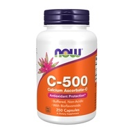 NOW Foods - C-500 Calcium Ascorbate-C - 250 Capsules (733739006776)
