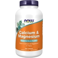 NOW Foods - Calcium and Magnesium High Potency - 250 Tablets, from category: Vitamins & Minerals