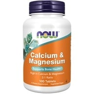 Image of NOW Foods - Calcium and Magnesium High Potency - 100 Tablets