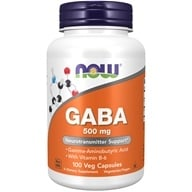 Image of NOW Foods - GABA with Vitamin B-6 500 mg. - 100 Capsules