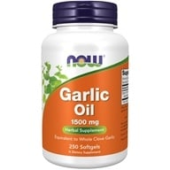 NOW Foods - Garlic Oil 1500 mg. - 250 Softgels, from category: Herbs