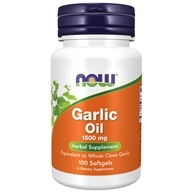 NOW Foods - Garlic Oil 1500 mg. - 100 Softgels, from category: Herbs