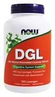 NOW Foods - DGL 400 mg. - 100 Lozenges