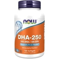 Image of NOW Foods - DHA-250 500 mg. - 120 Softgels