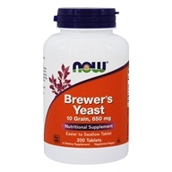 NOW Foods - Brewer's Yeast 650 mg. - 200 Vegetarian Tablets (733739024107)