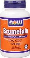 NOW Foods - Bromelain Natural Enzyme 2400 GDU 415 mg. - 180 Tablets - $15.49