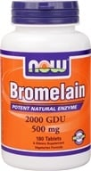 NOW Foods - Bromelain Natural Enzyme 2400 GDU 415 mg. - 180 Tablets, from category: Nutritional Supplements