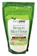 NOW Foods - Brown Rice Flour Organic - 16 oz. (733739061300)