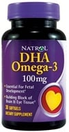 Image of Natrol - DHA Omega-3 100 mg. - 30 Softgels CLEARANCED PRICED