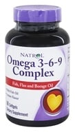 Natrol - Omega 3-6-9 Complex - 60 Softgels, from category: Nutritional Supplements