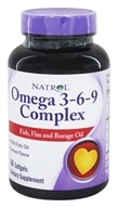 Image of Natrol - Omega 3-6-9 Complex - 60 Softgels