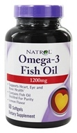 Image of Natrol - Omega-3 Fish Oil Lemon Flavor 1200 mg. - 60 Softgels