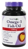 Natrol - Omega-3 Fish Oil Lemon Flavor 1200 mg. - 60 Softgels by Natrol