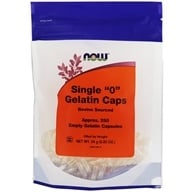 "NOW Foods - Gelatin Caps Single ""0"" Size - 250 Capsules (733739051561)"