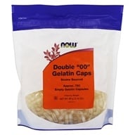 "NOW Foods - Gelatin Caps Double ""00"" Size - 750 Capsules, from category: Nutritional Supplements"
