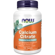 NOW Foods - Calcium Citrate - 100 Tablets