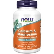 NOW Foods - Calcium and Magnesium Citrate Powder - 8 oz.