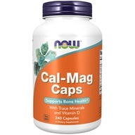 NOW Foods - Calcium-Magnesium with Trace Minerals and Vitamin D - 240 Capsules (733739012661)