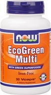 NOW Foods - Eco-Green Multi with Green Superfoods Iron-Free - 90 Vegetarian Capsules (733739037879)