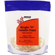 "NOW Foods - Gelatin Caps Single ""0"" Size - 1000 Gelcaps, from category: Nutritional Supplements"