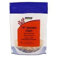 "NOW Foods - Gelatin Caps ""3"" Size (Extra Small Size) - 1000 Gelcaps (733739052100)"
