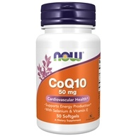 NOW Foods - CoQ10 Cardiovascular Health with Selenium and Vitamin E 50 mg. - 50 Softgels (733739031921)