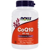 NOW Foods - CoQ10 Cardiovascular Health 60 mg. - 180 Vegetarian Capsules (733739031549)