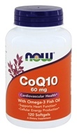 NOW Foods - CoQ10 Cardiovascular Health with Omega-3 Fish Oil 60 mg. - 120 Softgels