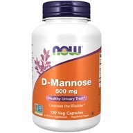 NOW Foods - D-Mannose 500 mg. - 120 Capsules