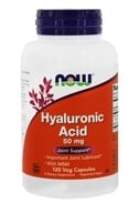 Image of NOW Foods - Hyaluronic Acid with MSM 50 mg. - 120 Vegetarian Capsules