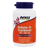 Image of NOW Foods - I3C indole 3 Carbinol With Lignans - 60 Vegetarian Capsules