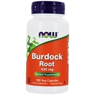 Image of NOW Foods - Burdock Root 430 mg. - 100 Capsules