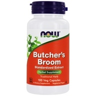 NOW Foods - Butcher's Broom 500 mg. - 100 Capsules (733739046154)