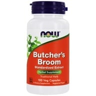 Image of NOW Foods - Butcher's Broom 500 mg. - 100 Capsules